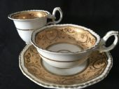 H & R Daniel tea and coffee cups and saucer